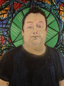 Neil - glass artist detail
