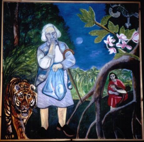 Portrait tiger paula rego