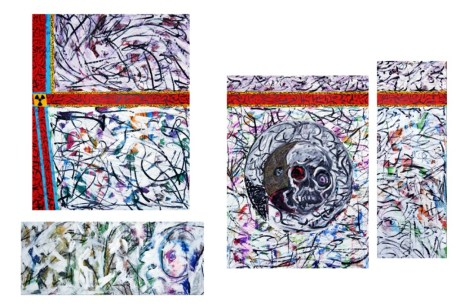 20. Fukushima Oil pastel and charcoal on multiple canvas overall 230 x 160 cm (1024 x 685)