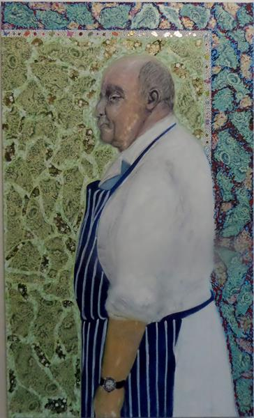 1. Seamus the Butcher Mixed media on canvas 5 ft x 3 ft