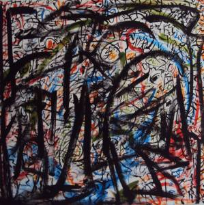 1. Chaos Oil and pastel on Canvas 4 ft x 4 ft